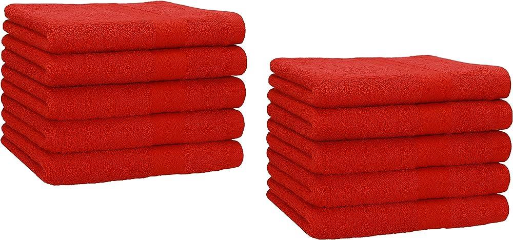 Betz, set di 10 asciugamani,in 100 % cotone,30x50 cm