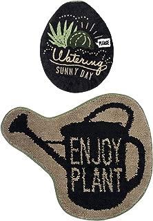 トイレセット 2点 レギュラータイプ (トイレマット 1枚 U・O型兼用 フタカバー 1枚) & Green ENJOT PLANT