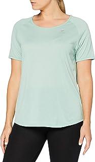 ODLO Women's T-Shirt s/s Crew Neck Millennium Element, Cerise Melange-Placed Print FW19, L