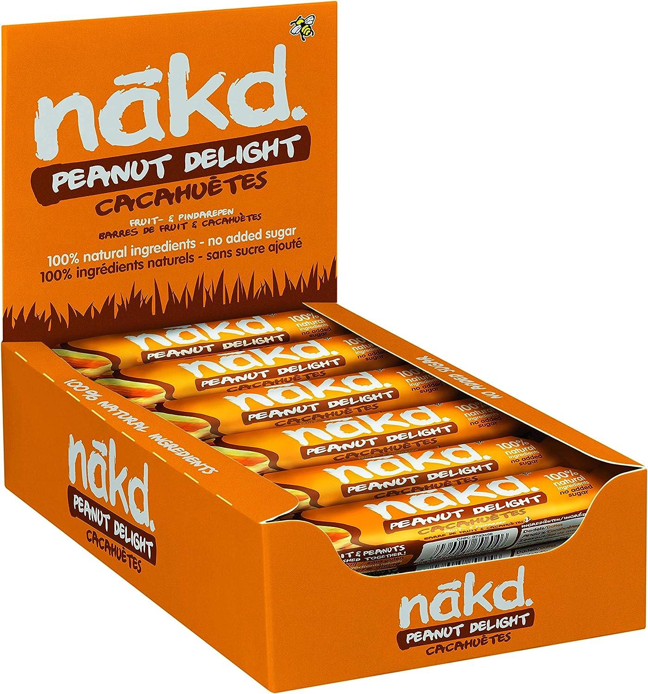 Nakd Berry Delight - Barritas de Fruta y Frutos Secos con Frambuesas - Sin Azúcar Añadido - Sin Gluten - Sin Lactosa - Vegano - Pack 18 Barritas x 35 ...