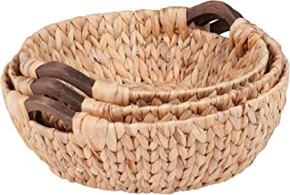 "Honey-Can-Do STO-04469 3pc round natural baskets, 15.75"" x 14.75"" x 5.3"""