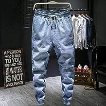 ShSnnwrl Comfortabele en zachte jeans broek Herfst Nieuwe Mannen Lichtblauwe Harem Jeans Plus Size Elastische Taille Denim...
