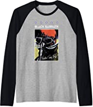 Black Sabbath Official Never Say Die Poster Raglan Baseball Tee
