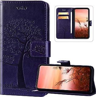 Wallet Case Compatibel met Xiaomi Redmi Note 9 Pro, PU Lederen Magnetische Sluiting Full Body Folio Telefoon Case Reliëf U...