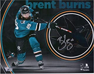 "Brent Burns San Jose Sharks Autographed 8"" x 10"" Teal Jersey Shooting Stylized Photograph - Fanatics Authentic Certified"