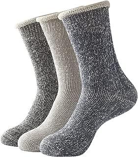 3 Men Thick Cotton Socks Thermal Crew Winter Warm Soft Boot Socks