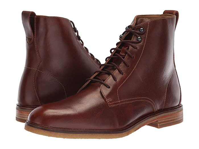 1920s Style Mens Shoes | Peaky Blinders Boots Clarks Clarkdale Rich Mahogany Leather Mens Lace up casual Shoes $105.46 AT vintagedancer.com