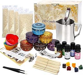 UHAPEER Ensemble de fabrication de bougies, ensemble de cadeaux de bougies parfumées bricolage fournitures bougies parfumé...