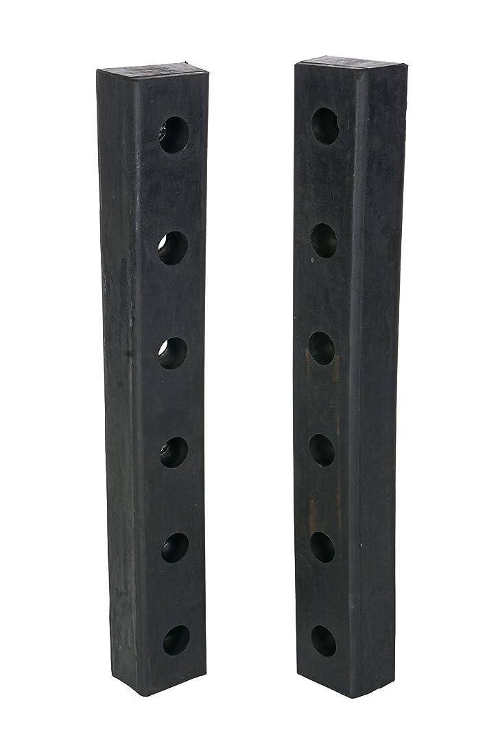 Vestil DBE-30-2 Rubber Hardened Molded Bumper, Rectangular, Vertical Mount, 30