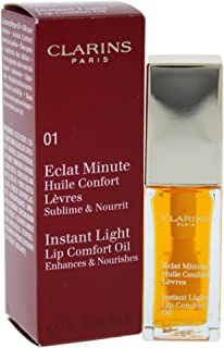 Clarins Eclat Minute Lip Comfort Oil, 01 Honey, 7ml