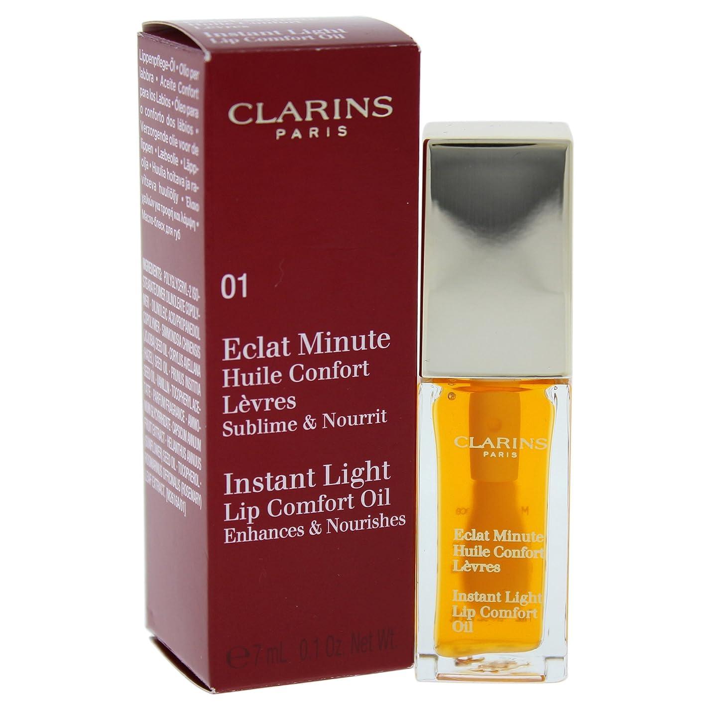 加害者腹痛引くクラランス エクラミニット インスタント ライトアップ コンフォートオイル - # 01 Honey 7ml/0.1oz並行輸入品
