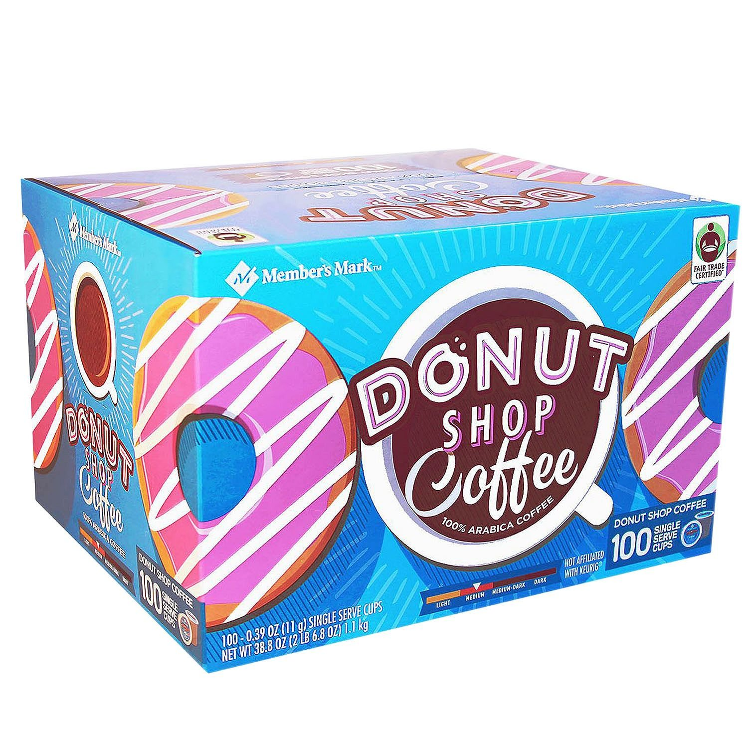 Member's Mark Donut Shop Coffee Safety and trust A1 Now on sale 100 cups. single-serve