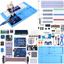 UNIROI Compatible wirh Arduino IDE Project Complete Starter Kit with Detailed Tutorials and Reliable Components, RAB Holder, Breadboard with Arduino IDE UNO R3 Mega 2560 Robot Nano (52 Items) UA005