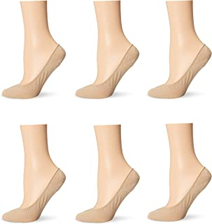 Women's Cotton Ultra Low Cut Liner Sock with Stay-Put Heel Gel 6-Pack