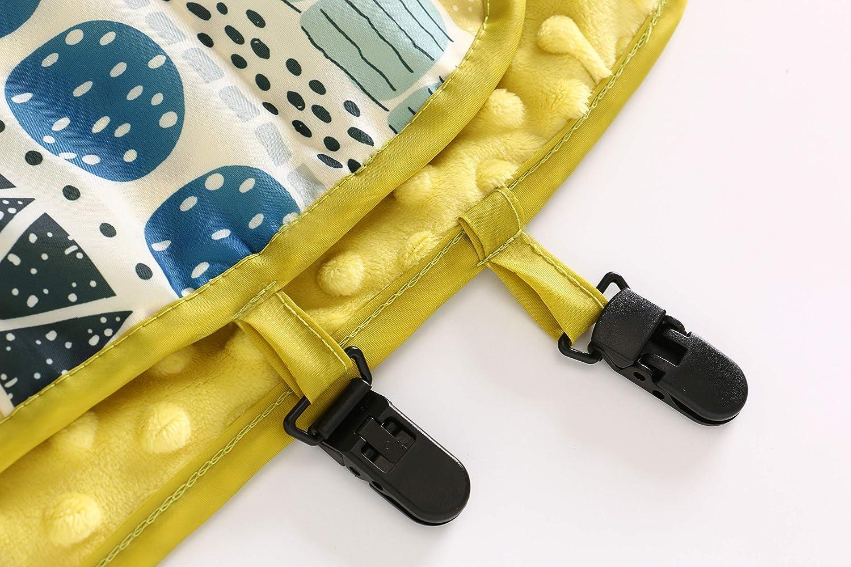 Minky Dot Wasserdichter Kinderwagenbezug mit Clips Einschlagdecke f/ür Babyschale Babytragen Babybett Baby Kinderwagen Decke