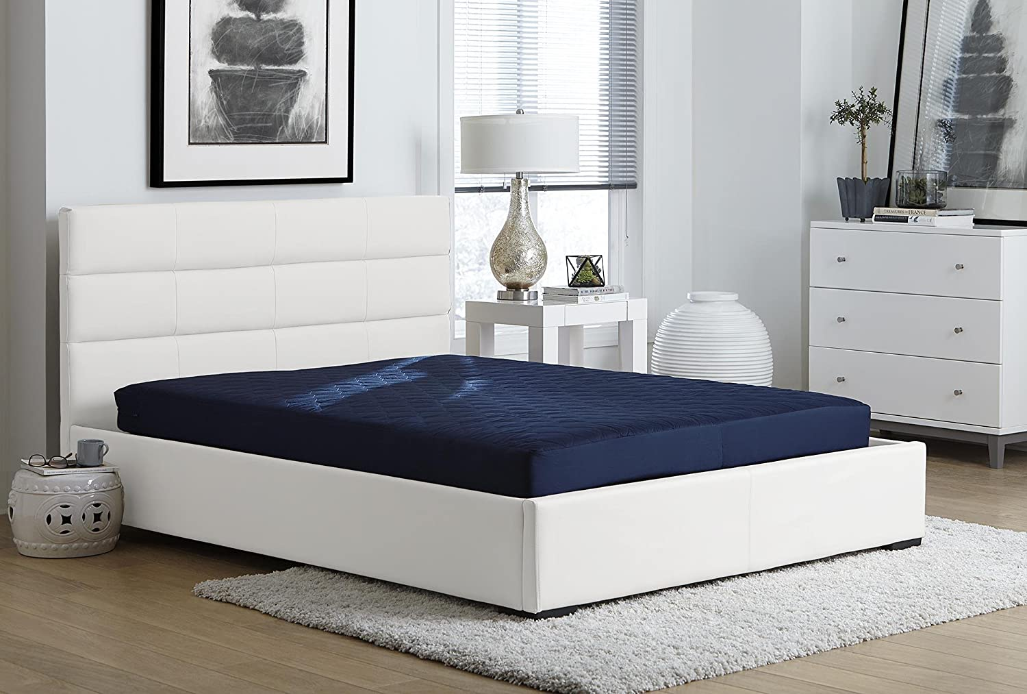 55% OFF DHP Shipping included 6 Inch Quilted Mattress Full Blue
