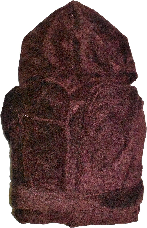 St. John's Bay Men's Long Sleeve Robe (Autumn Burgundy Heather, One Size Fits Most)