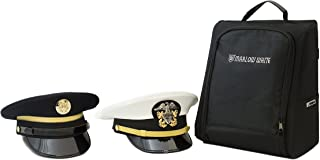 Marlow White CoverBag - Service Uniform Cap Protective Travel Bag