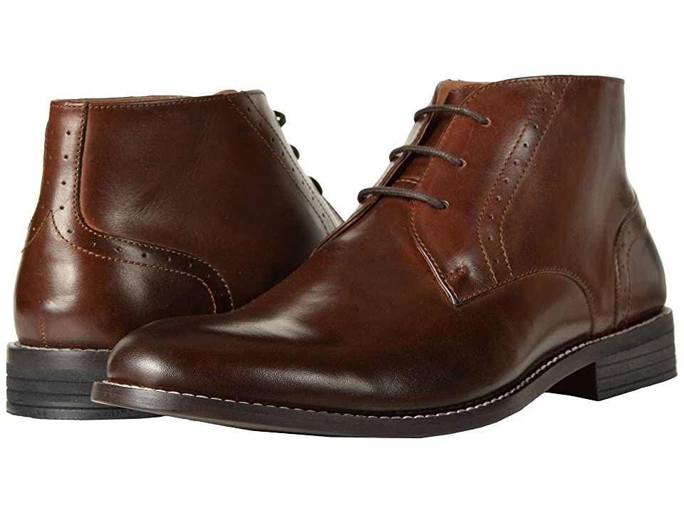 Nunn Bush Savage Plain Toe Chukka Boot (Brown) Men