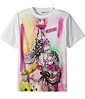 Moschino Kids - Short Sleeve Victorian Graffiti Graphic T-Shirt (Little Kids/Big Kids)