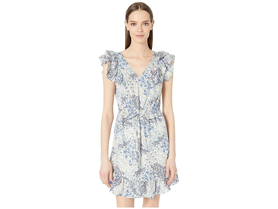 Rebecca Taylor Sleeveless Ava V-Neck Dress (Cream Combo) Women
