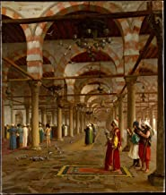 Historic Pictoric Fine Art Print - Jean-Léon Gérôme - Prayer in The Mosque - Vintage Wall Art - 11in x 14in