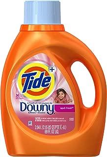 Tide Plus Downy April Fresh Scent Liquid Laundry Detergent, 69 oz, 36 loads