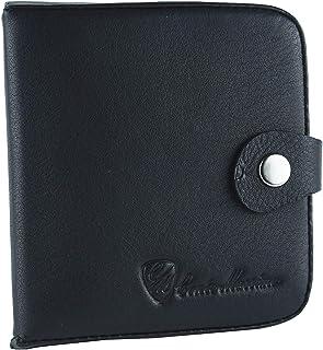 CONTE MASSIMO Tacco Portamonete, Porta Euro, Uomo In Vera Pelle (Nero Con Tasca Banconote)