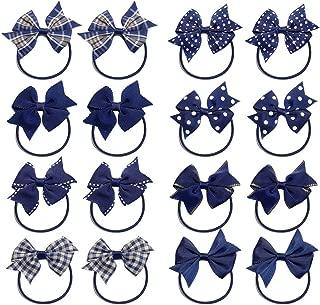KOONY Baby Girls Hair Bow Elastic Ties Ponytail Holders Hair Bands 16pc