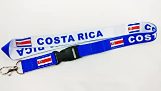 RockNerdy Flag Reversible Lanyard Keychain w/Quick Release Snap Buckle and Metal Clasp - ID Lanyard for Keys Badges USB Whistle - ID Holder Keychain for Women Men Kids (Blue or White)