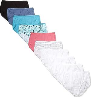 Women's Plus Size Cool Comfort Cotton Brief 10-Pack
