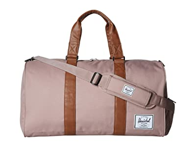 Herschel Supply Co. Novel (Ash Rose/Tan Synthetic Leather) Duffel Bags