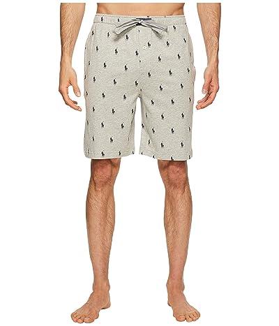 Polo Ralph Lauren Knit Sleep Shorts (Andover Heather/Cruise Navy AOPP) Men
