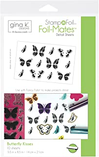 Gina K. Designs for Therm O Web 18075 Gina K. Designs StampnFoil Foil-Mates Detail Sheets, Butterfly Kisses