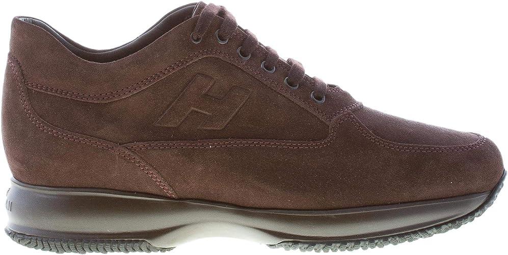 Hogan Uomo Interactive Sneaker in camoscio Marrone Ebano : Amazon ...
