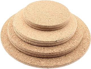 Juego de 2 salvamanteles ovalados de corcho para mesa de cocina de calidad 100/% natural de corcho portugu/és Tama/ños 29 y 24 cm