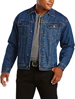 Wrangler mens Rugged Wear Flannel Lined Denim Jacket
