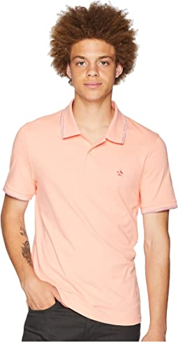 Short Sleeve Space Dye Tip Polo