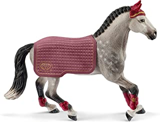 Schleich Horse Club, 2-Piece Playset, Horse Toys for Girls and Boys 5-12 years old Trakehner Mare Riding Tournament