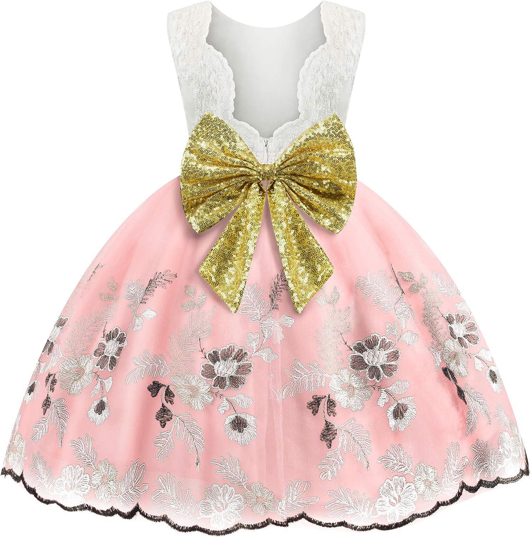 Toddler Baby Girls Flower trend rank Dress Wedding Ball Party Pagenat Oakland Mall Gown
