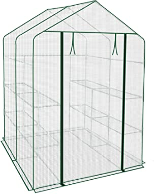 "Strong Camel Indoor Outdoor Mini Walk-in Greenhouse Portable Plant Gardening Greenhouse (56""X56""X76.7"")"