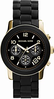 michael kors women's runway black watch mk5191