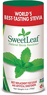 Sweetleaf Natural Stevia Sweetener Powder, 4 Ounce Shaker