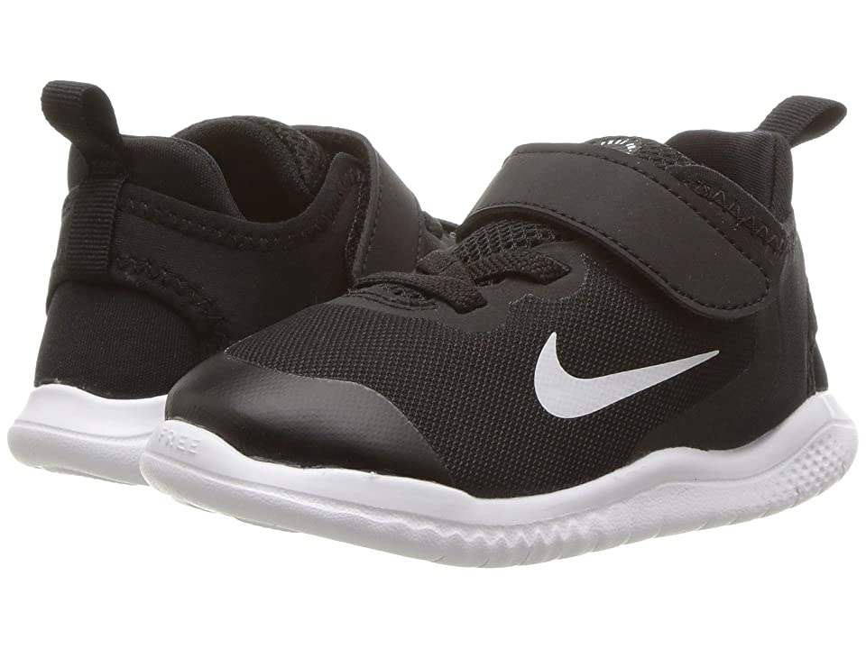Nike Kids Free RN 2018 (Infant/Toddler) (Black/White) Boys Shoes