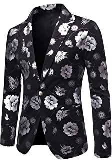 BLTR-Men Slim Fit Notch Lapel Long Sleeve Blazer Jacket Coats