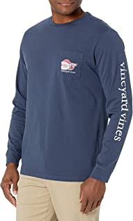 Sponsored Ad - Vineyard Vines Men's Long Sleeve 2020 Classic Santa Whale Pocket T-Shirt