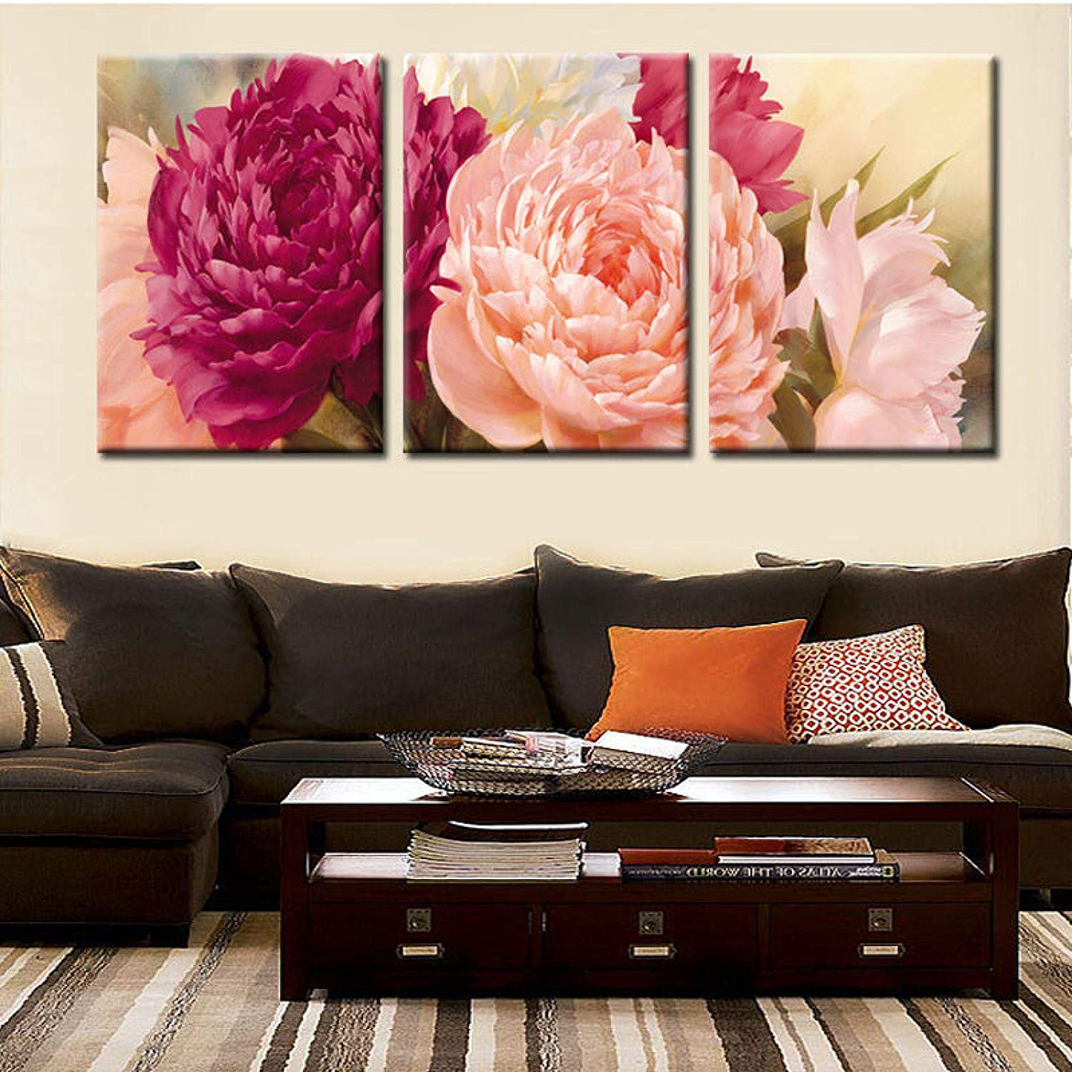 Canvas Painting peony Ranking TOP20 Flower Decoration Wall Art Max 58% OFF