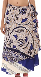 Wholesale Lot 10 Womens Skirts Printed Reversible Two Layer Wrap Skirt