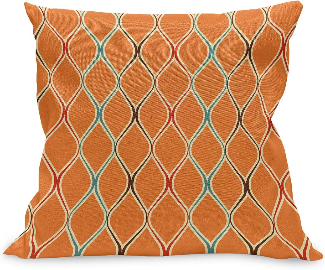 Max 85% OFF Ambesonne Orange Throw Pillow Cushion Fashion Limited price sale Old Case Vibrant