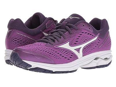 Mizuno Wave Rider 22 (Bright Violet/Purple Plumeria) Girls Shoes
